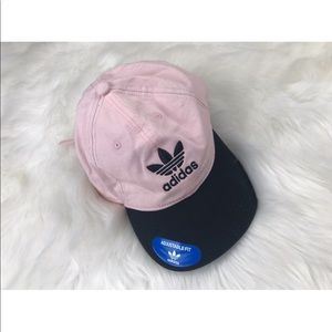 {Adidas} pink & black adjustable dad hat